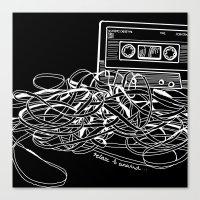 Noir Relax & Unwind Canvas Print