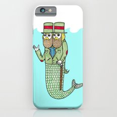 Portrait of a two headed merman iPhone 6 Slim Case