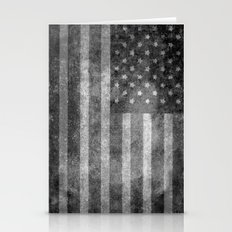Old Glory with worn grungy treatment Stationery Cards