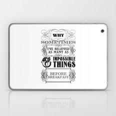 Alice in Wonderland Six Impossible Things Laptop & iPad Skin