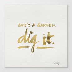 Dig It – Gold Ink Canvas Print