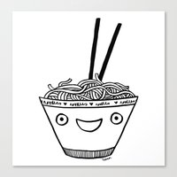 Happy Noodles Canvas Print