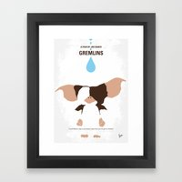 No451 My Gremlin Minimal… Framed Art Print