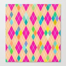 Colorful Geometric V Canvas Print