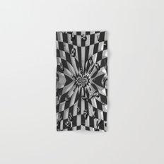 Chessboard Drops by Nico Bielow Hand & Bath Towel