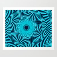 Circular Optical Illusion Art Print