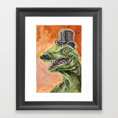 Dapper Dino Framed Art Print
