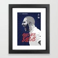 Karim Benzema Framed Art Print