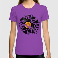 Disc Jockey Womens Fitted Tee Ultraviolet SMALL