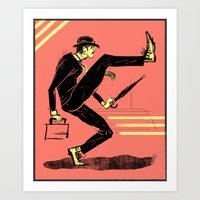 Silly Walk Art Print