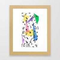 80s Memphis Inspired print with arabic font Framed Art Print