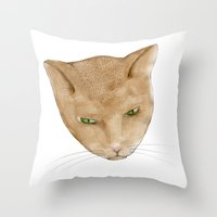 Totem Kitteh 2 Throw Pillow