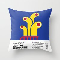 Pantone YELLOW SUBMARINE Throw Pillow