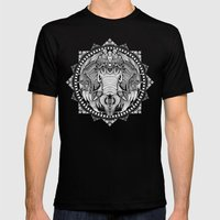 Elephant Medallion Mens Fitted Tee Black SMALL