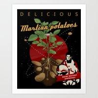 The Martian: Potatoes Art Print