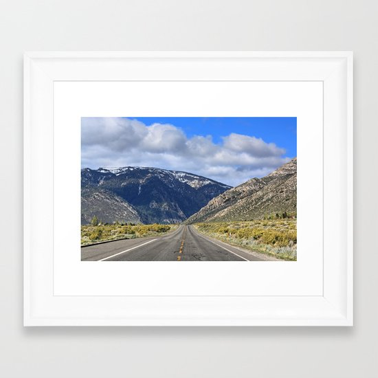 Hills Ahead Framed Art Print