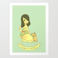 Happy Cute Butt Day Art Print