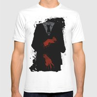 Murder Suit Mens Fitted Tee White SMALL