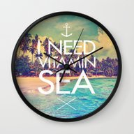 I Need Vitamin Sea Wall Clock