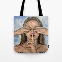 Silence in the Dark  Tote Bag