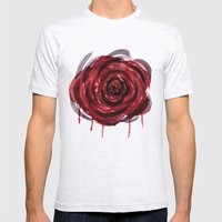 Rose Mens Fitted Tee Ash Grey SMALL