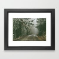 Foggy Road Framed Art Print