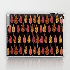 Autumn leaves on a black background . Laptop & iPad Skin