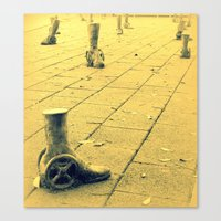 Wheelie feet Canvas Print