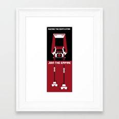 Avenge the Death Star Framed Art Print