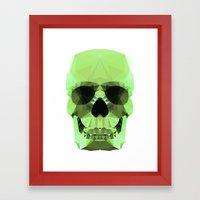 Polygon Heroes - Emerald Skull Framed Art Print