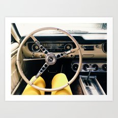 FROM BEHIND THE WHEEL - IV Art Print