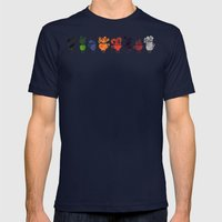 Teacups Mens Fitted Tee Navy SMALL