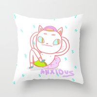 Anxious Throw Pillow