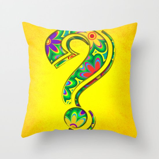 That is the question Throw Pillow