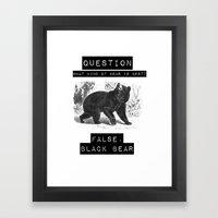 false. black bear Framed Art Print