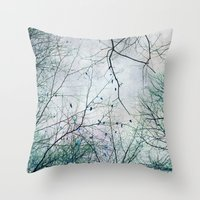 twigs tapestry Throw Pillow