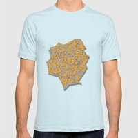 III SIDES Mens Fitted Tee Light Blue SMALL