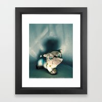 Demon Bulldog With Plast… Framed Art Print