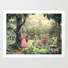 Sleeping Beauty - Once Upon A Dream Art Print