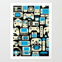 AXOR Heroes - Love For Games Duotone Art Print
