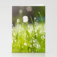 grassy morning Stationery Cards