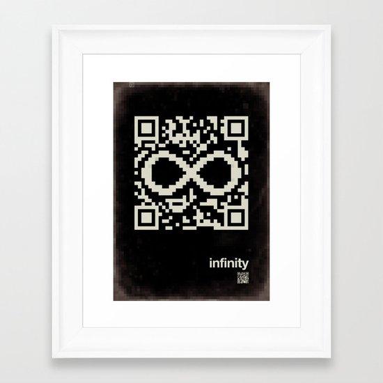 QR infinity Framed Art Print