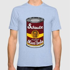 Schrute Fresh Cut Sliced… Mens Fitted Tee Tri-Blue SMALL