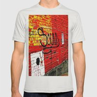 Wall Of Sound Mens Fitted Tee Silver SMALL