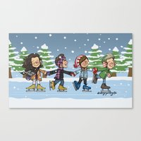 Ice Skating Canvas Print