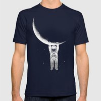 Help! Mens Fitted Tee Navy SMALL