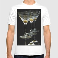 Three Martini's And Thre… Mens Fitted Tee White SMALL