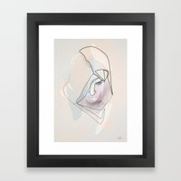 One Line Assasin's Creed Framed Art Print