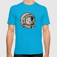 Astrollama Mens Fitted Tee Teal SMALL