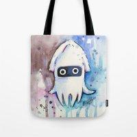 Blooper Watercolor Mario Art Tote Bag